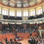 The graduation ceremony took place in the Sheldonian Theatre