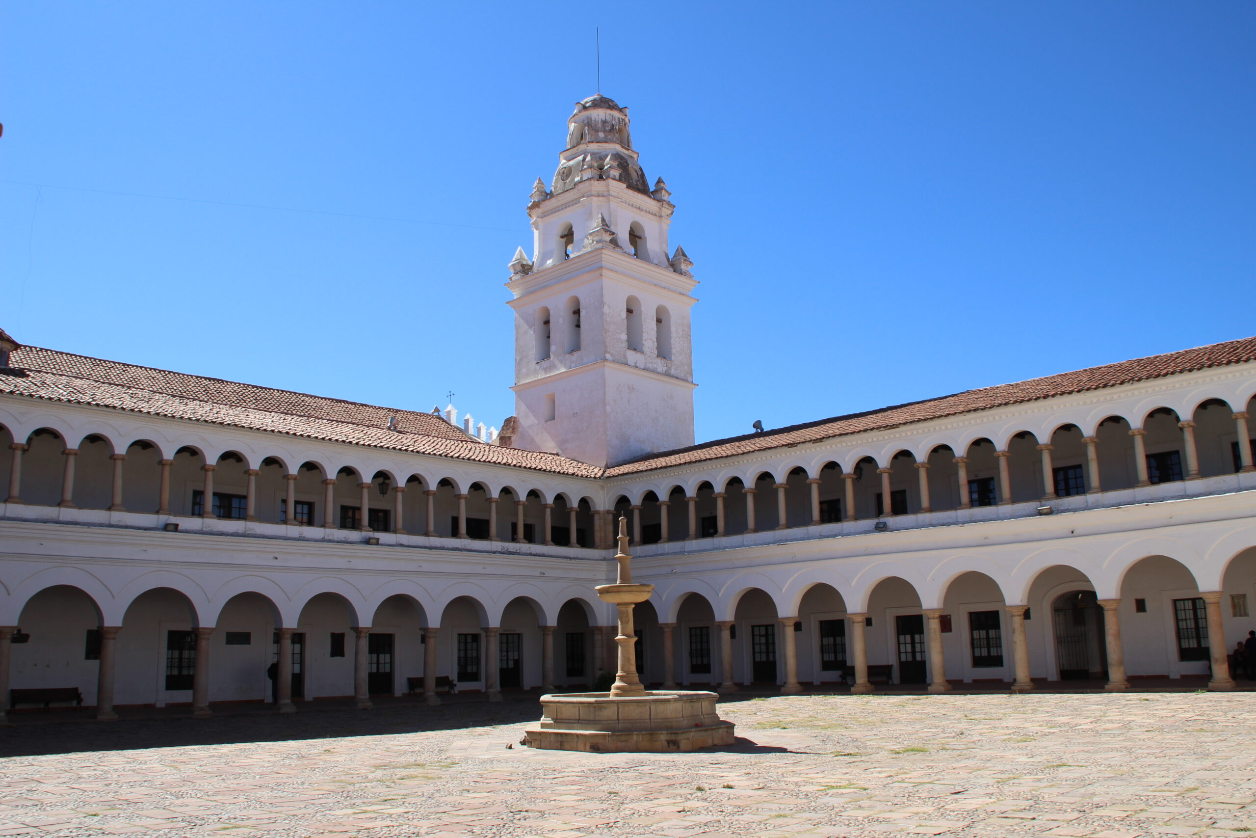 Magnificent colonial courtyard at the University