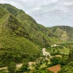 Lush mountains around the Marquiri waterfalls