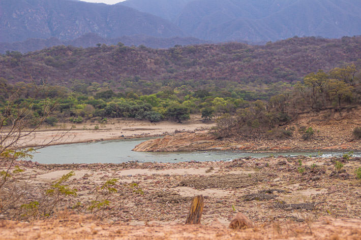 The wide Pilcomayo river