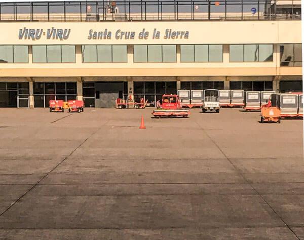 Ready to take off from Viru Viru in Santa Cruz