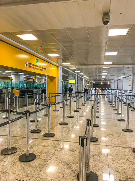 The Guarulhos airport in São Paulo was completely deserted