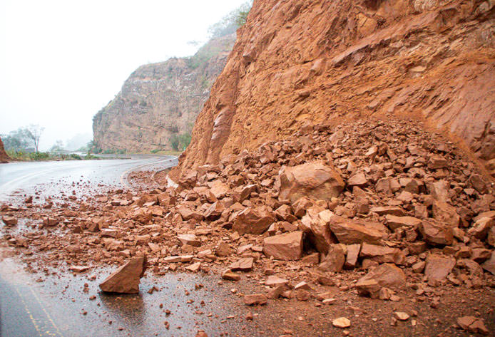Bolivian roads can be dangerous, especially in the rainy season