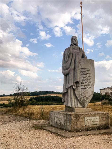 A statue of El Cid in Mecerreyes