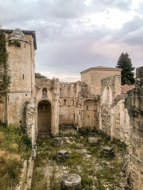 The imposing Monasterio de San Pedro de Arlanza is partially in ruins