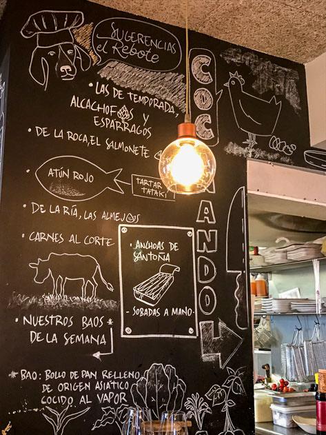 Some of the menu items at El Rebote