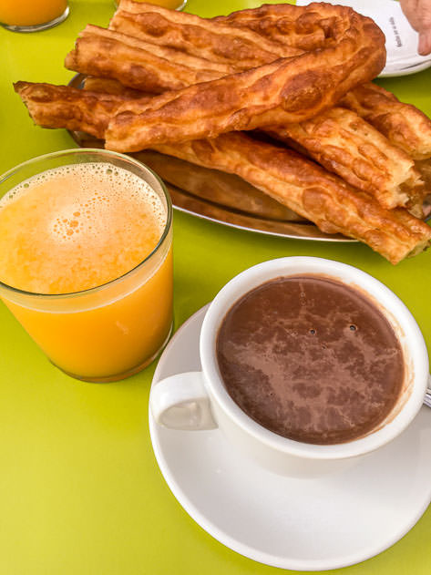 Time for hot chocolate and porras