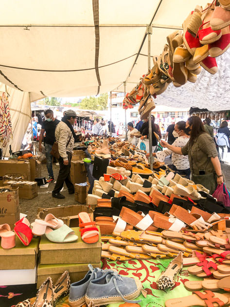 I bought two pairs of shoes at this stand in the flea market