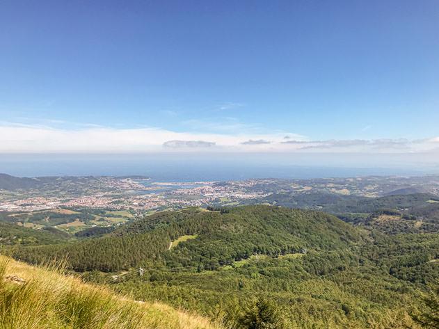 A breathtaking view of Fuenterrabía, Irún and Hendaye from Peñas de Aya