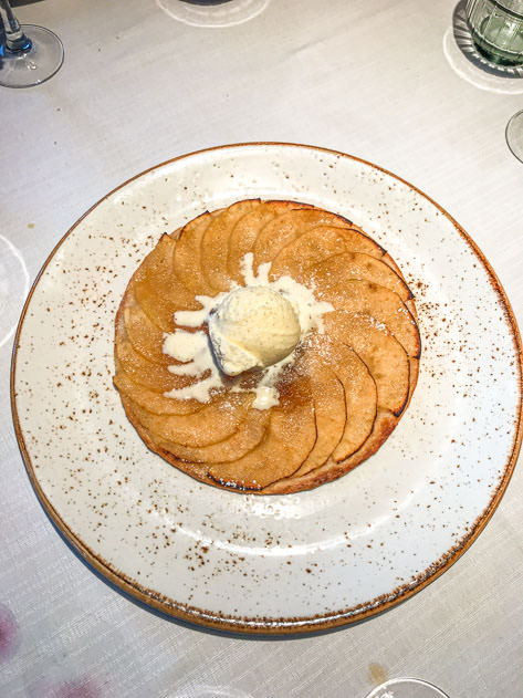 The apple cake was to die for