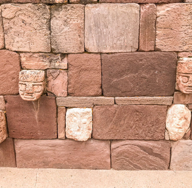 These carved heads on the walls of the semi-subterranean temple in Tiwanaku were one of my favorites