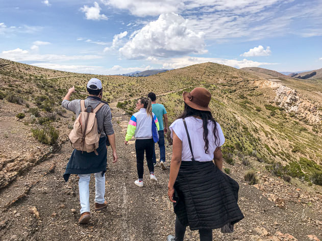 Hiking from Challapampa to Yumani with our friends