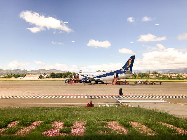 Ready for take off at the Tarija airport