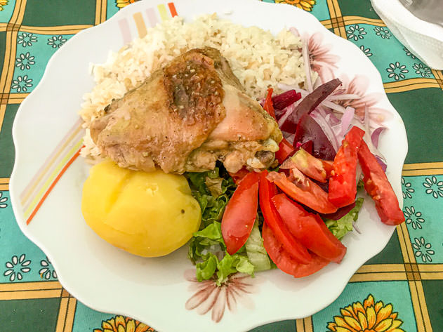 Delicious lunch at El Encuentro