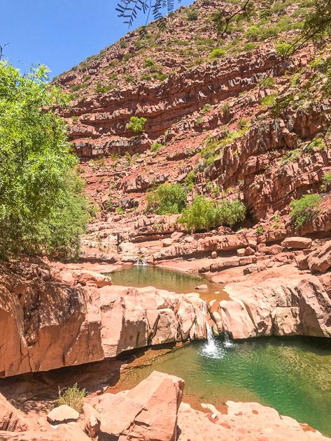 Paradise river pools outside Villa Abecia